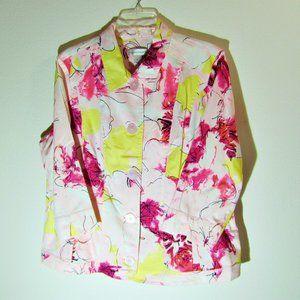 Christopher & Banks Floral Twill Jacket